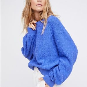 Blue Found my Friend sweater Free People